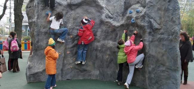 Playgrounds climbing walls